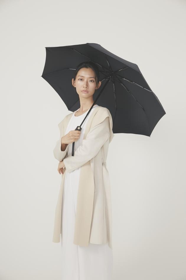 POCKET AUTO時尚仕幔自動折傘-黛麗黑 3